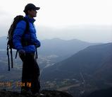 金時山山頂にて