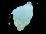 日本兵もきっとこうして洞窟から海を眺めていたのでしょう
