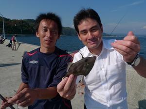 一緒に釣りをした村田さんと、ありがとう。