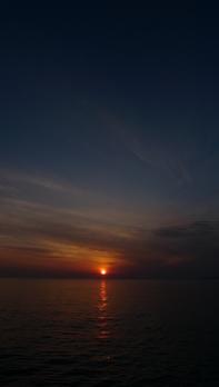回天訓練基地付近からの夕日