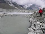 イムジャ氷河の前方部分