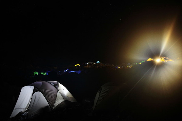 ベースキャンプ滞在最後の夜