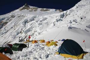 キャンプ1からのマナスル峰