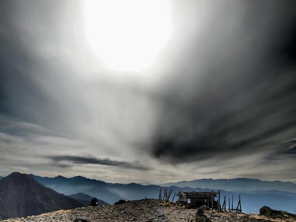 2番目・硫黄岳山頂にて