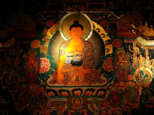 美しい寺院の壁画に心から癒された