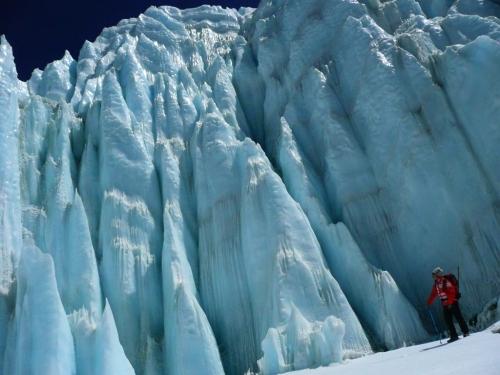 氷柱と野口健